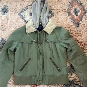 American eagle coat khaki green large